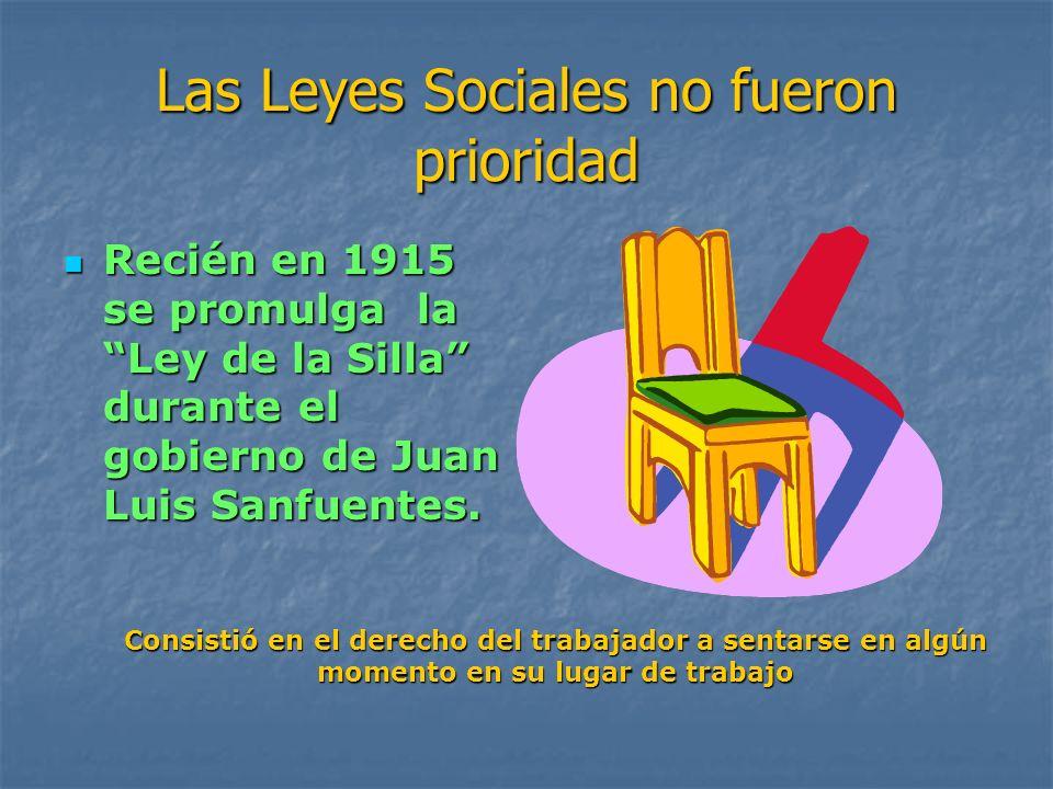 Las Leyes Sociales no fueron prioridad