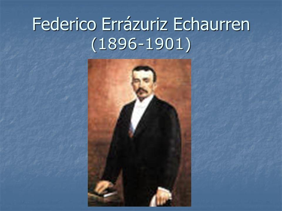 Federico Errázuriz Echaurren (1896-1901)