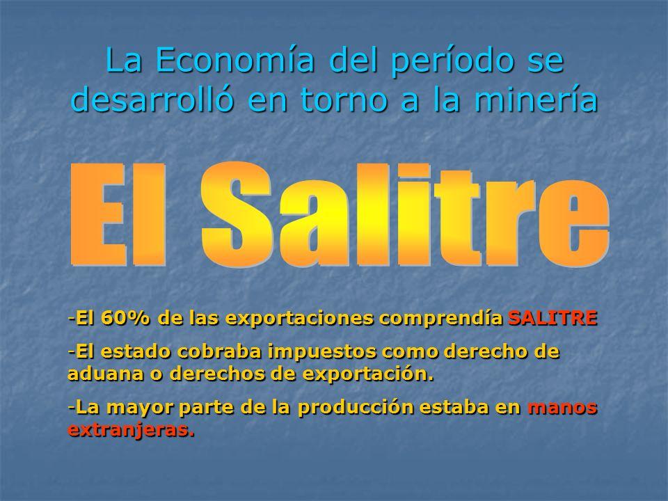 La Economía del período se desarrolló en torno a la minería