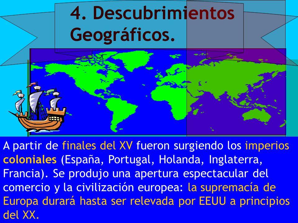 4. Descubrimientos Geográficos.