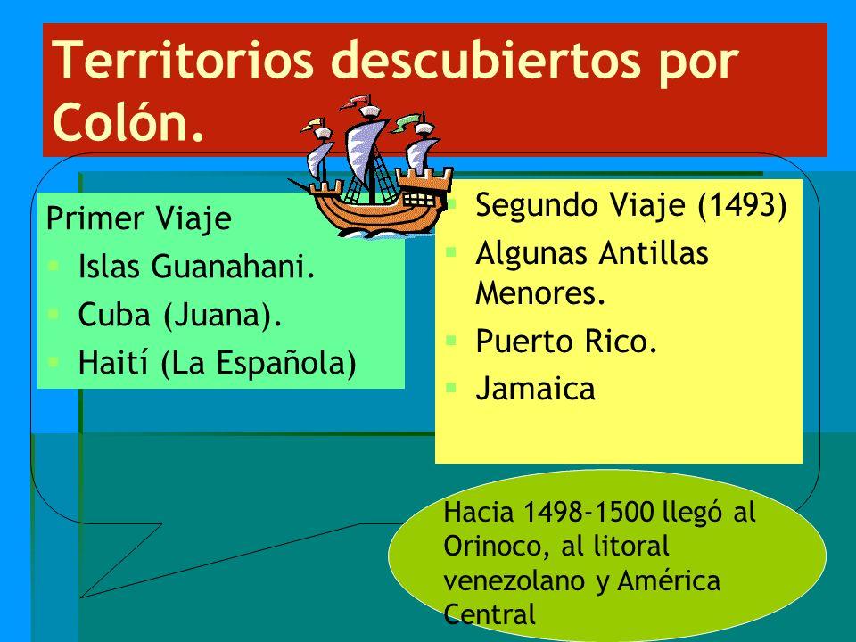 Territorios descubiertos por Colón.