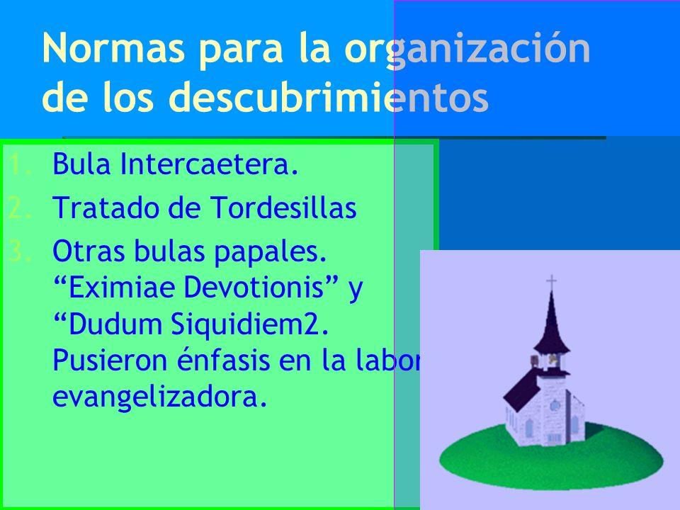Normas para la organización de los descubrimientos