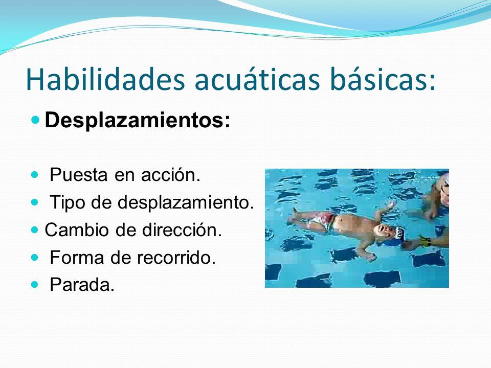 Habilidades acuáticas básicas:
