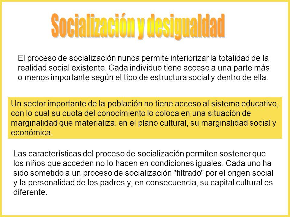 Socialización y desigualdad