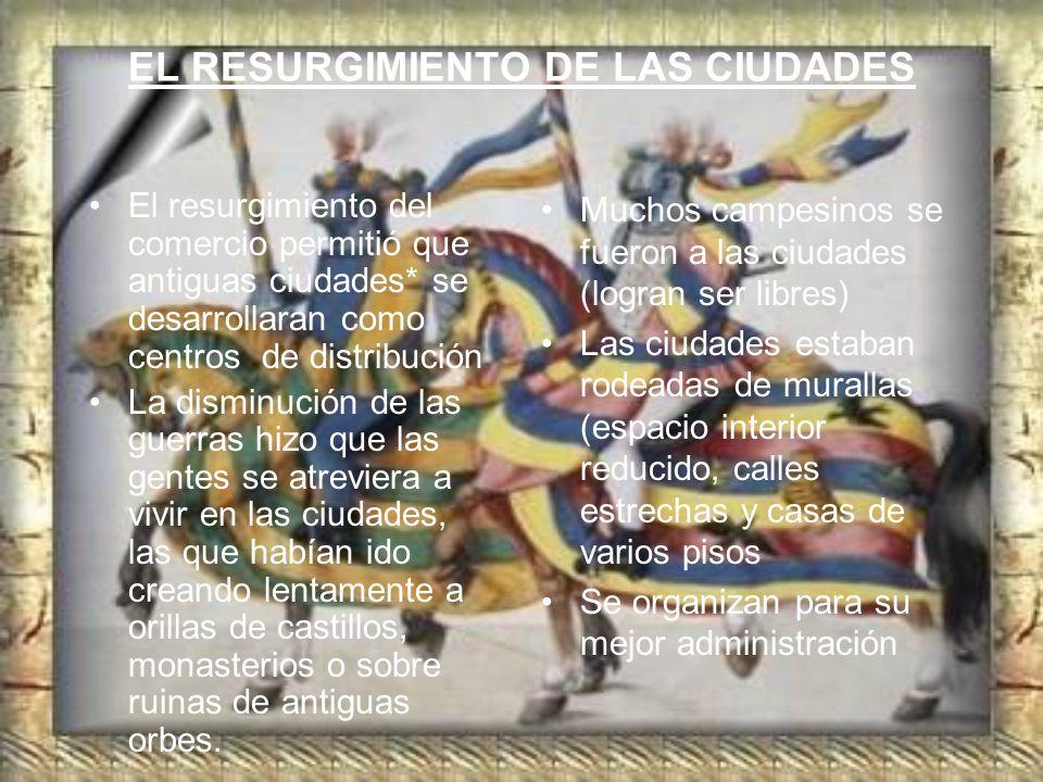 EL RESURGIMIENTO DE LAS CIUDADES