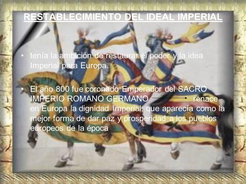 RESTABLECIMIENTO DEL IDEAL IMPERIAL