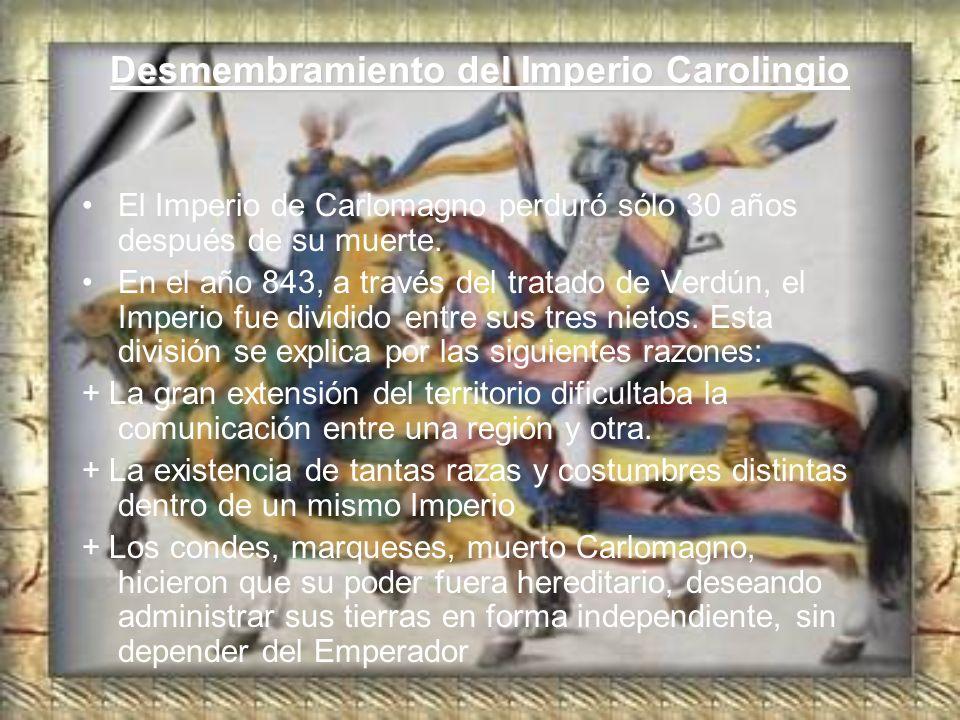 Desmembramiento del Imperio Carolingio
