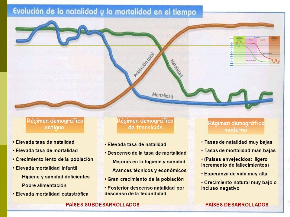 Régimen demográfico antiguo Régimen demográfico de transición