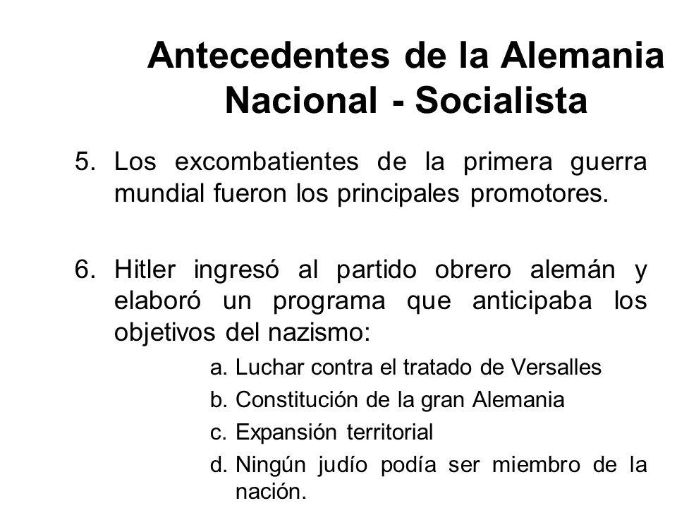 Antecedentes de la Alemania Nacional - Socialista