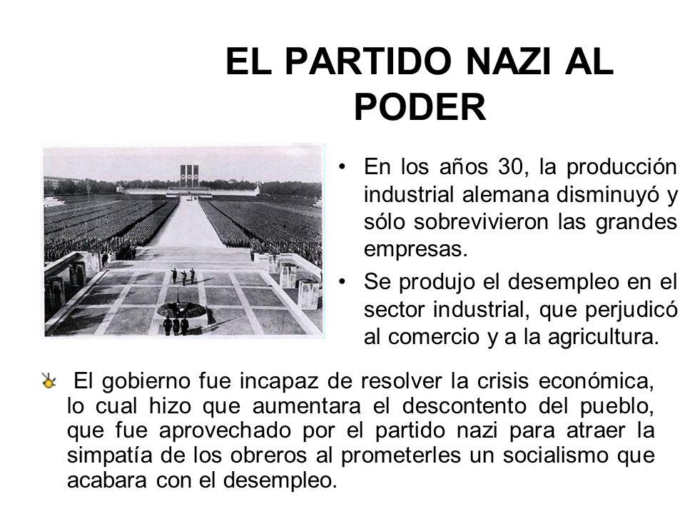 EL PARTIDO NAZI AL PODER