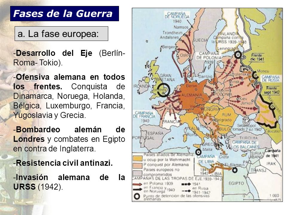 Fases de la Guerra a. La fase europea: