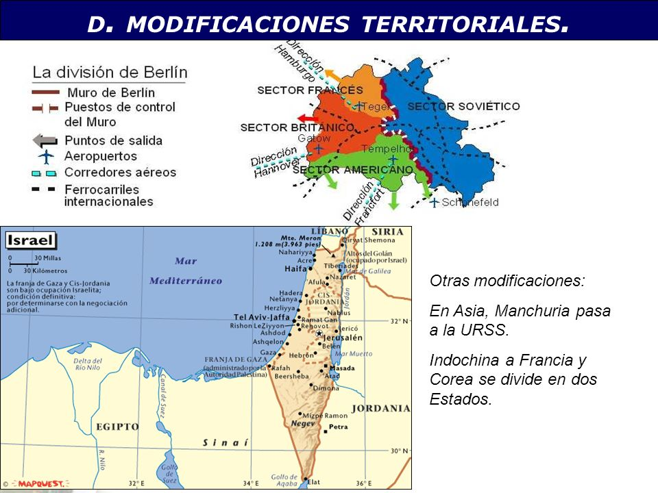 D. MODIFICACIONES TERRITORIALES.