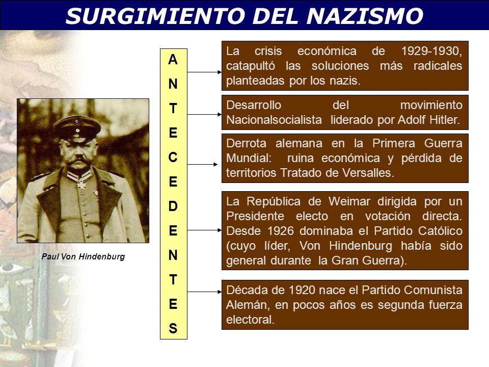 SURGIMIENTO DEL NAZISMO