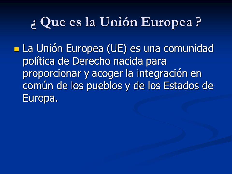 ¿ Que es la Unión Europea
