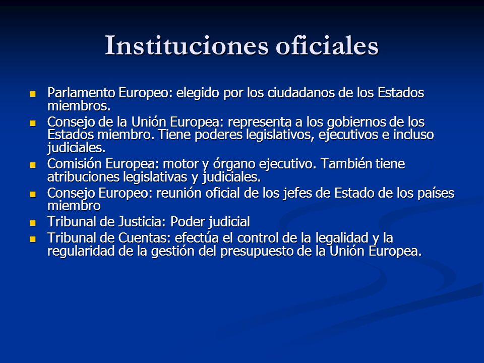 Instituciones oficiales