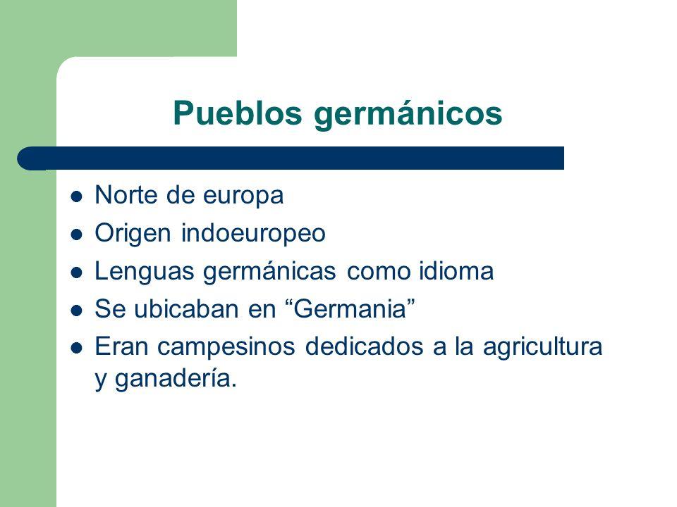 Pueblos germánicos Norte de europa Origen indoeuropeo