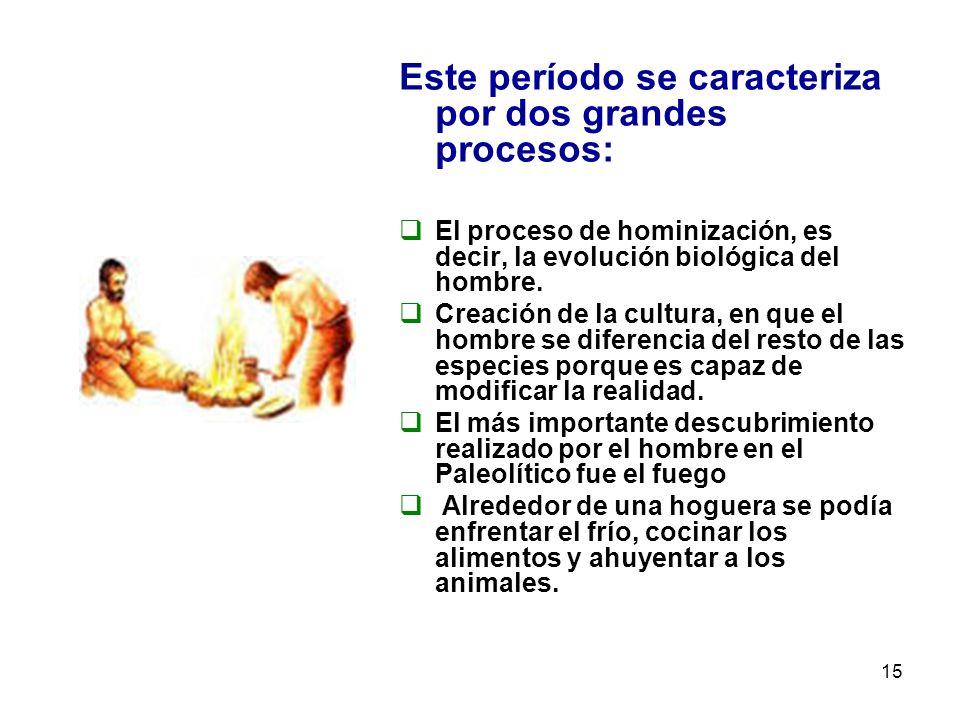 Este período se caracteriza por dos grandes procesos: