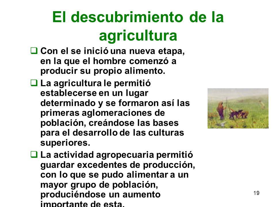 El descubrimiento de la agricultura