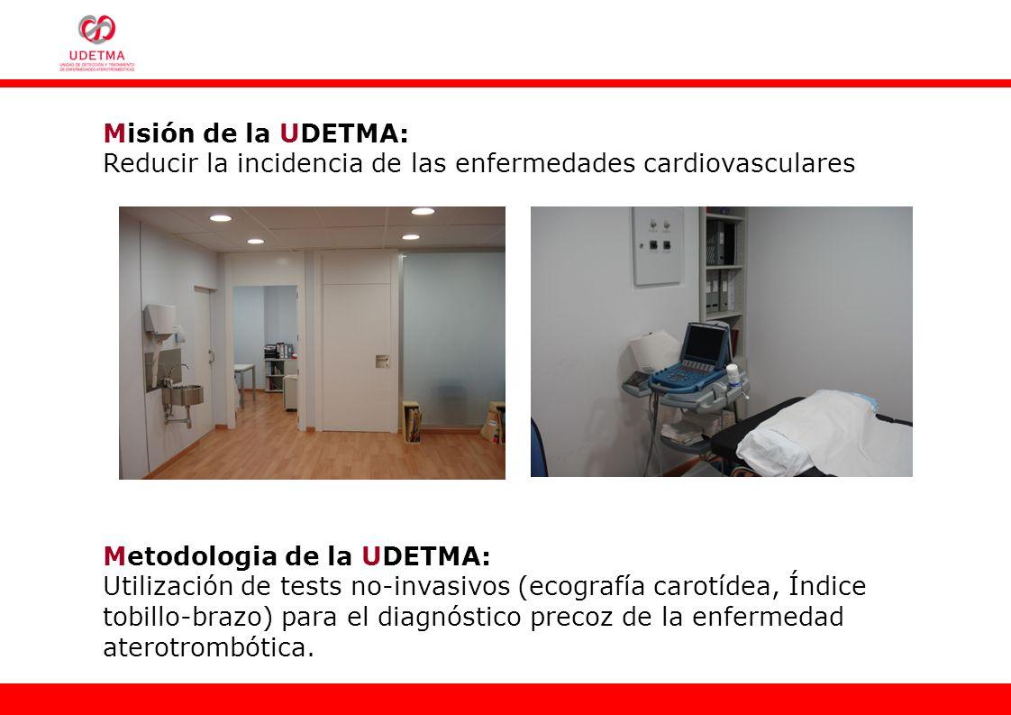 Misión de la UDETMA:Reducir la incidencia de las enfermedades cardiovasculares. Metodologia de la UDETMA: