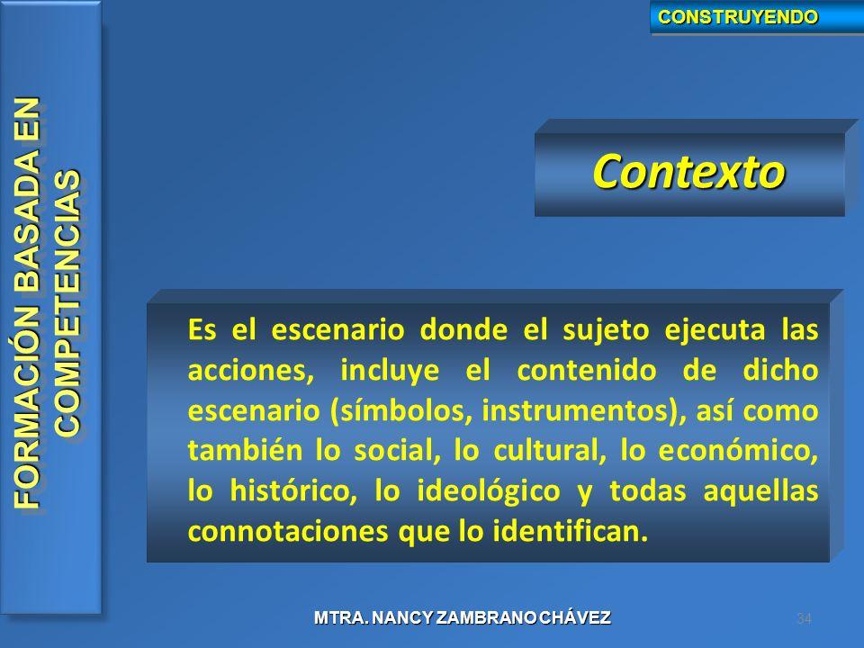 CONSTRUYENDO Contexto.