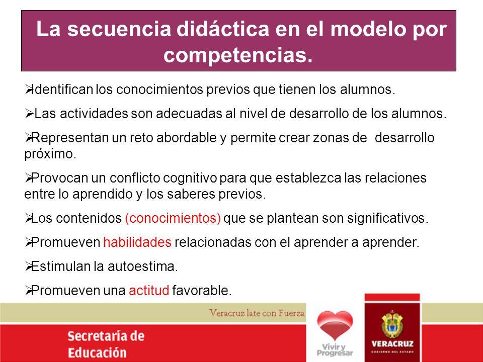 La secuencia didáctica en el modelo por competencias.