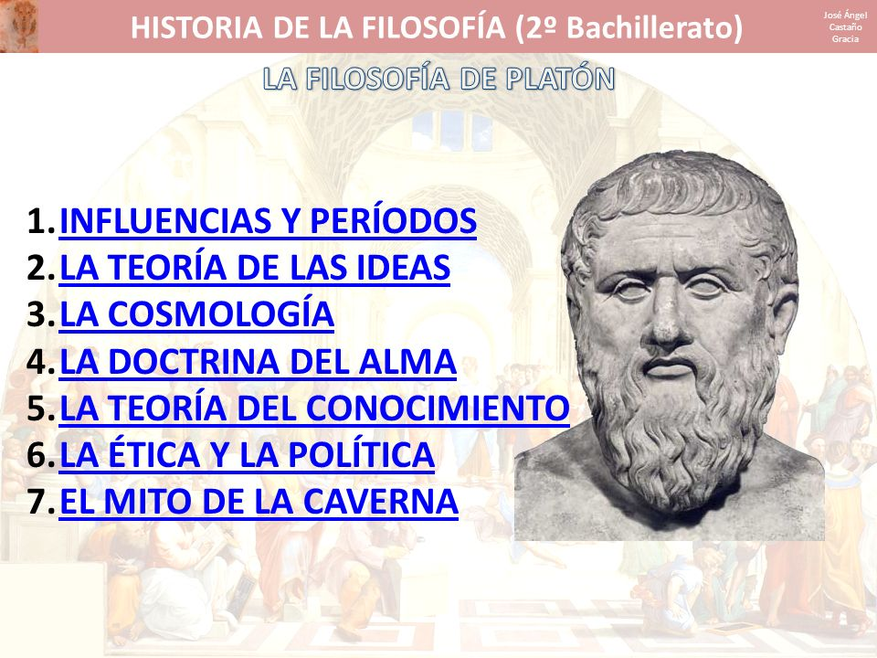 HISTORIA DE LA FILOSOFÍA (2º Bachillerato)