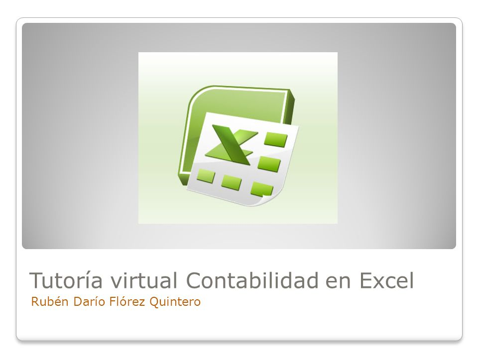 Tutoría virtual Contabilidad en Excel