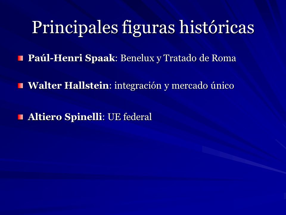 Principales figuras históricas