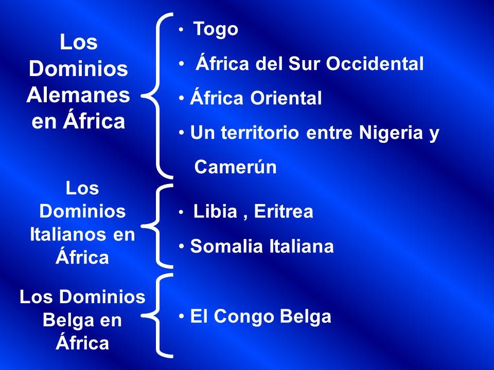Los Dominios Alemanes en África