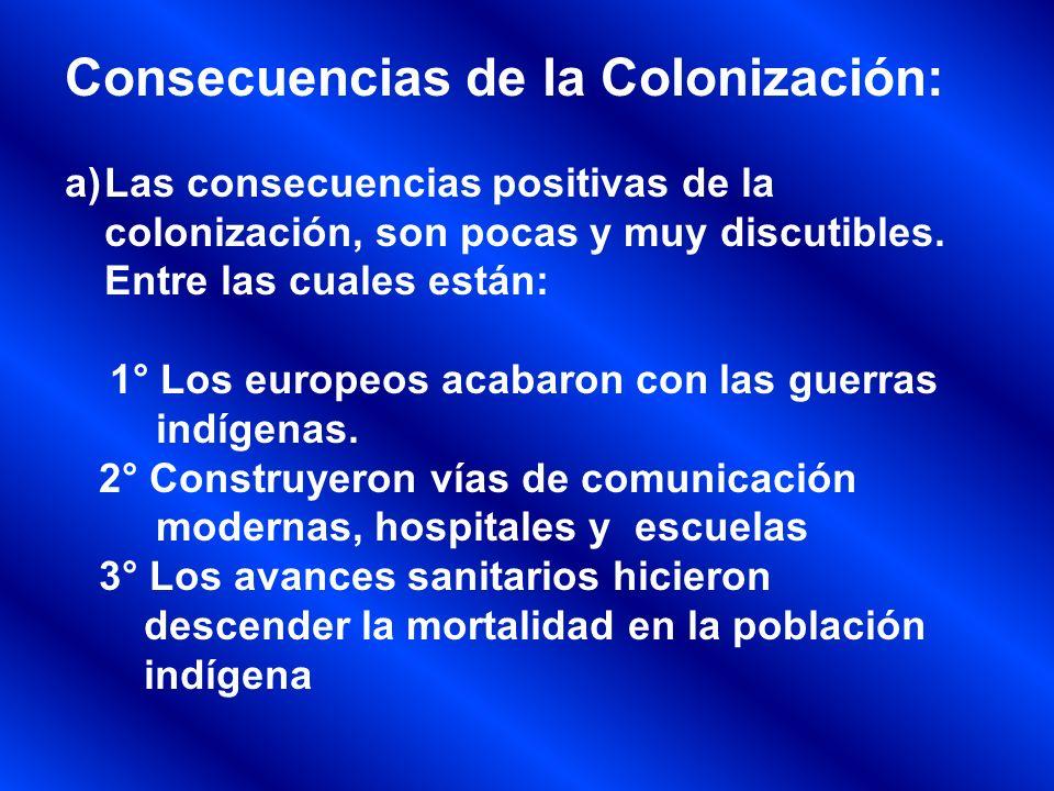 Consecuencias de la Colonización: