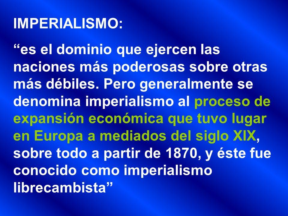 IMPERIALISMO: