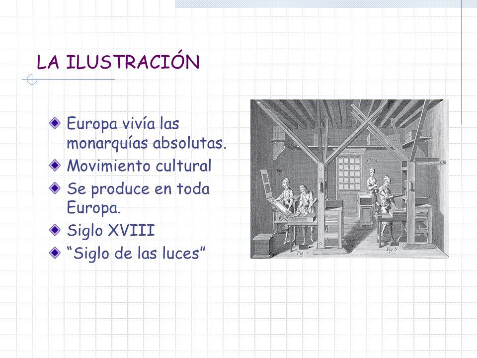 LA ILUSTRACIÓN Europa vivía las monarquías absolutas.