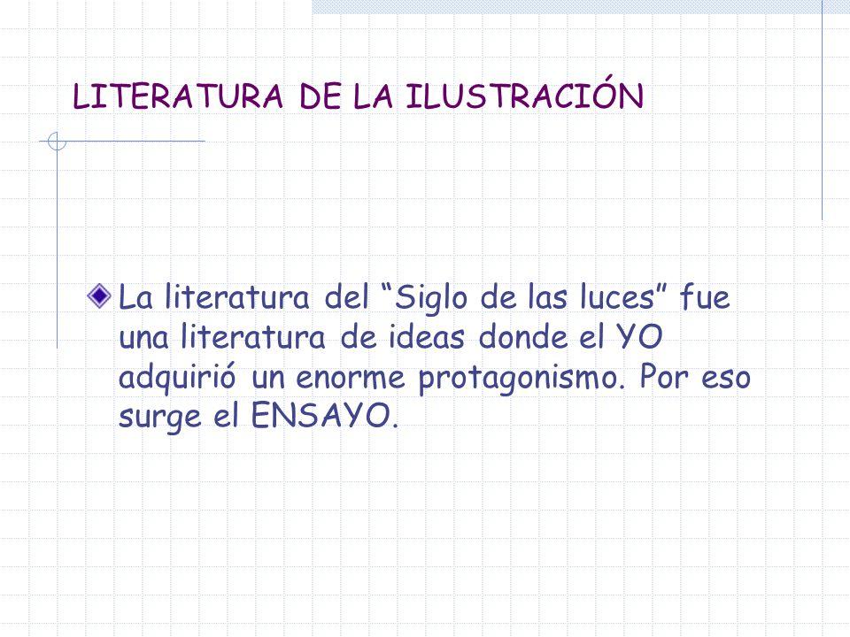 LITERATURA DE LA ILUSTRACIÓN