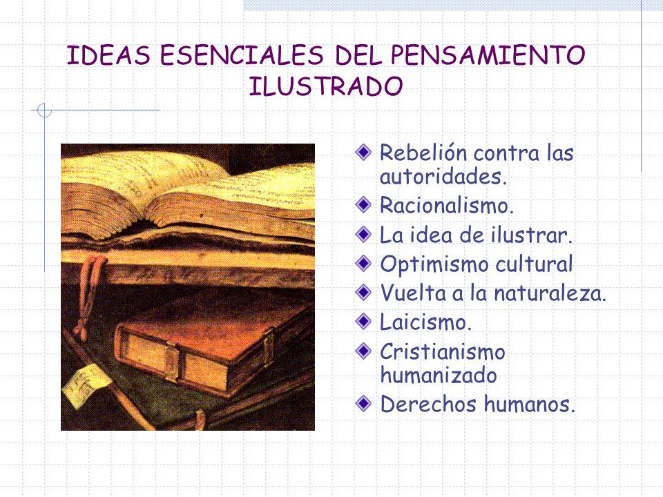 IDEAS ESENCIALES DEL PENSAMIENTO ILUSTRADO