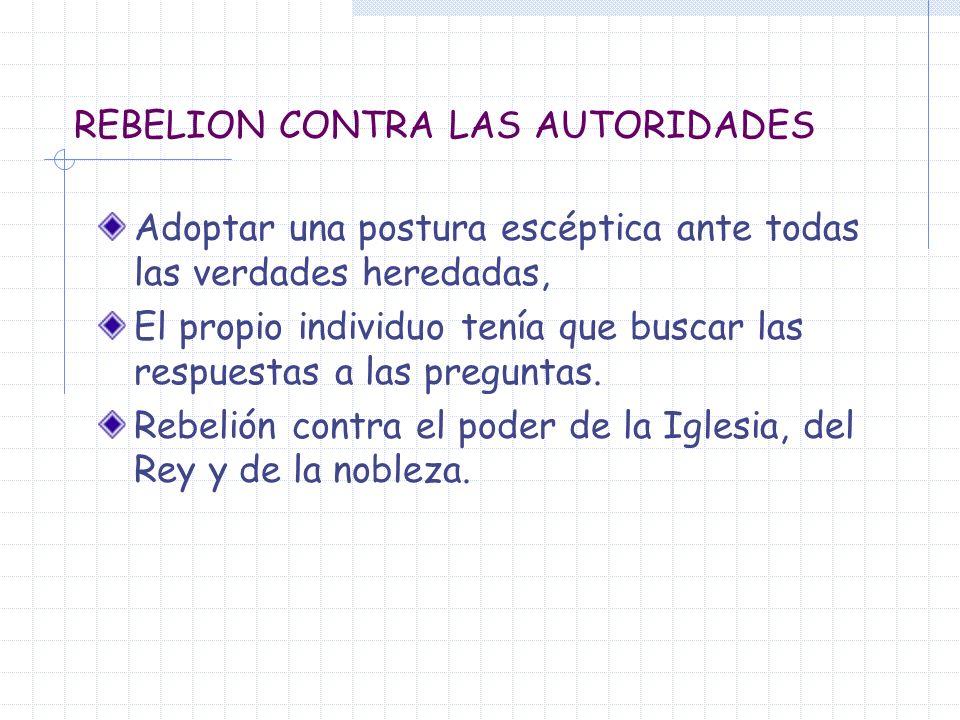 REBELION CONTRA LAS AUTORIDADES