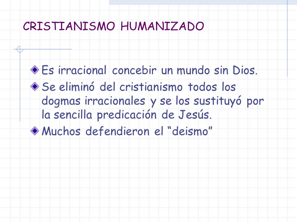 CRISTIANISMO HUMANIZADO