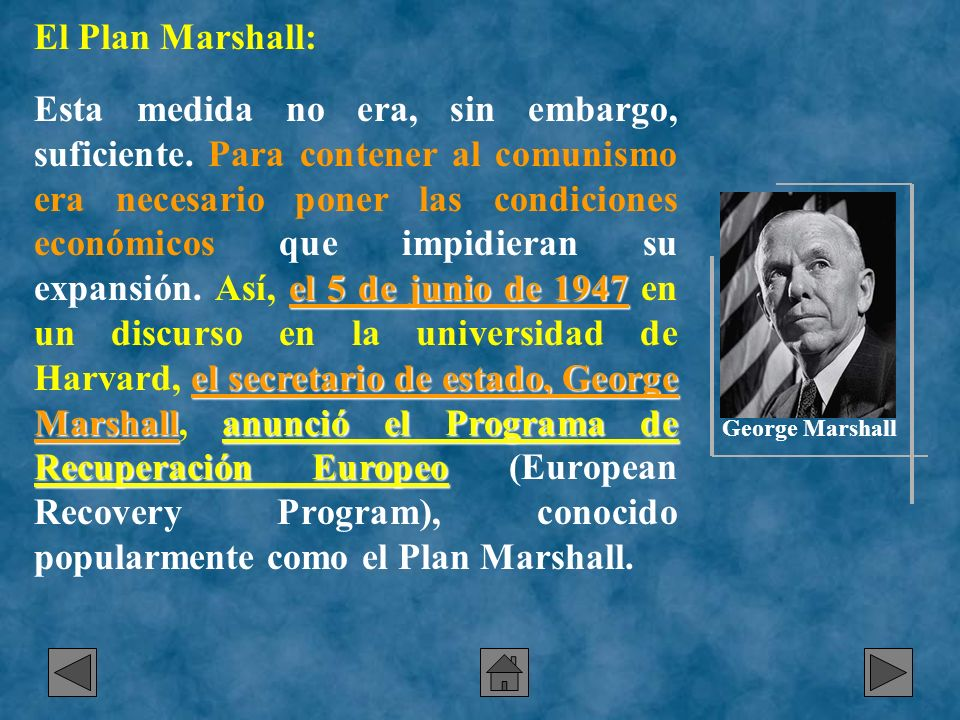 El Plan Marshall: