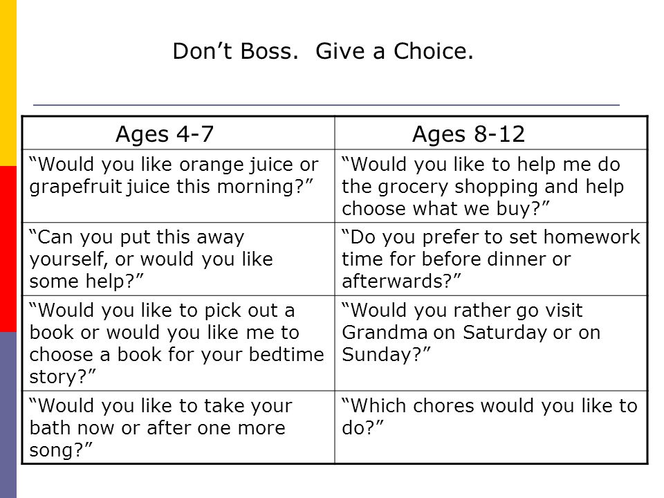 Don't Boss. Give a Choice.