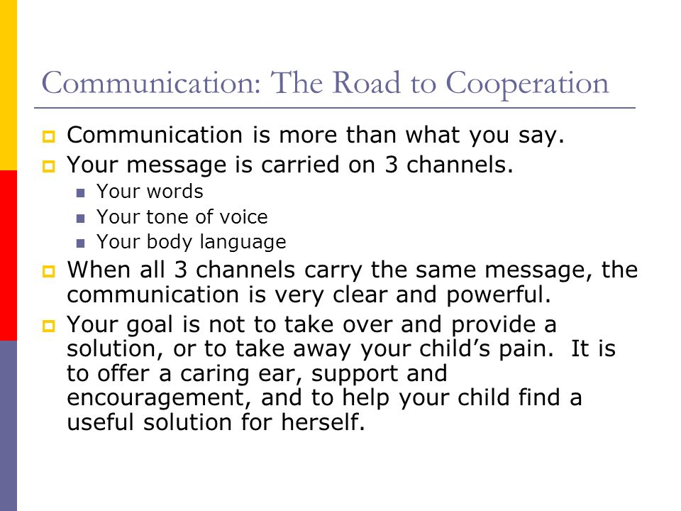 Communication: The Road to Cooperation
