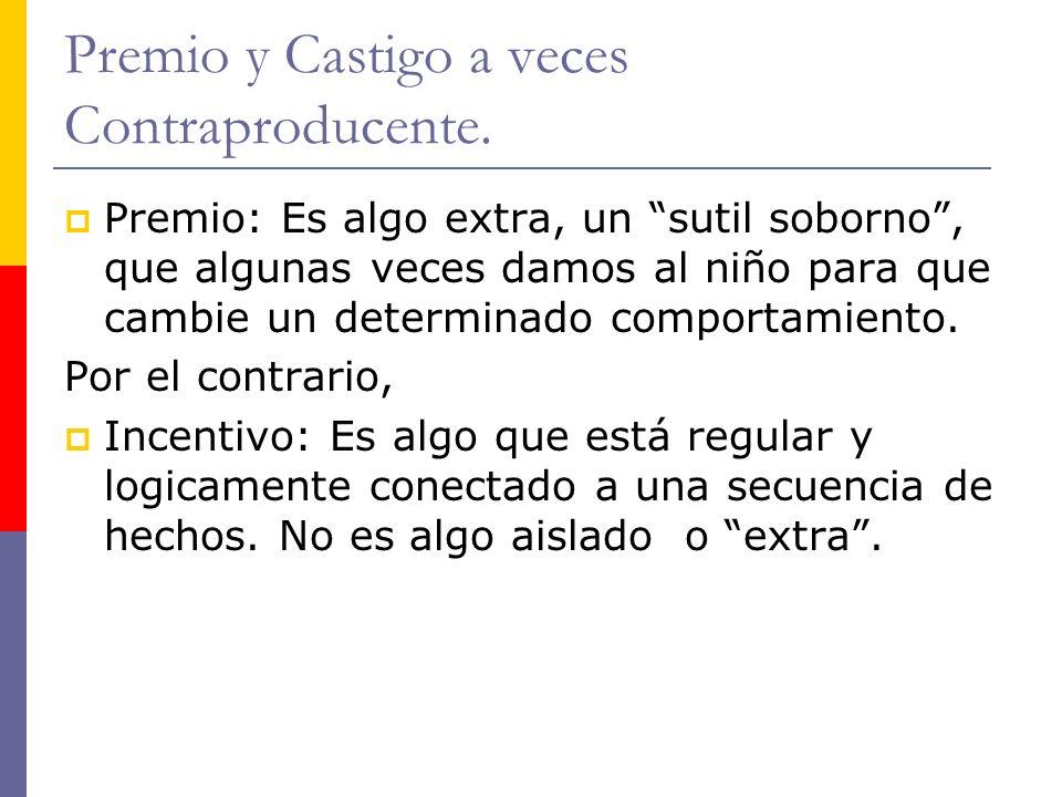 Premio y Castigo a veces Contraproducente.