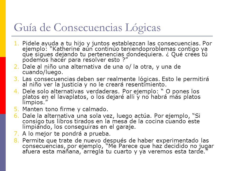 Guía de Consecuencias Lógicas