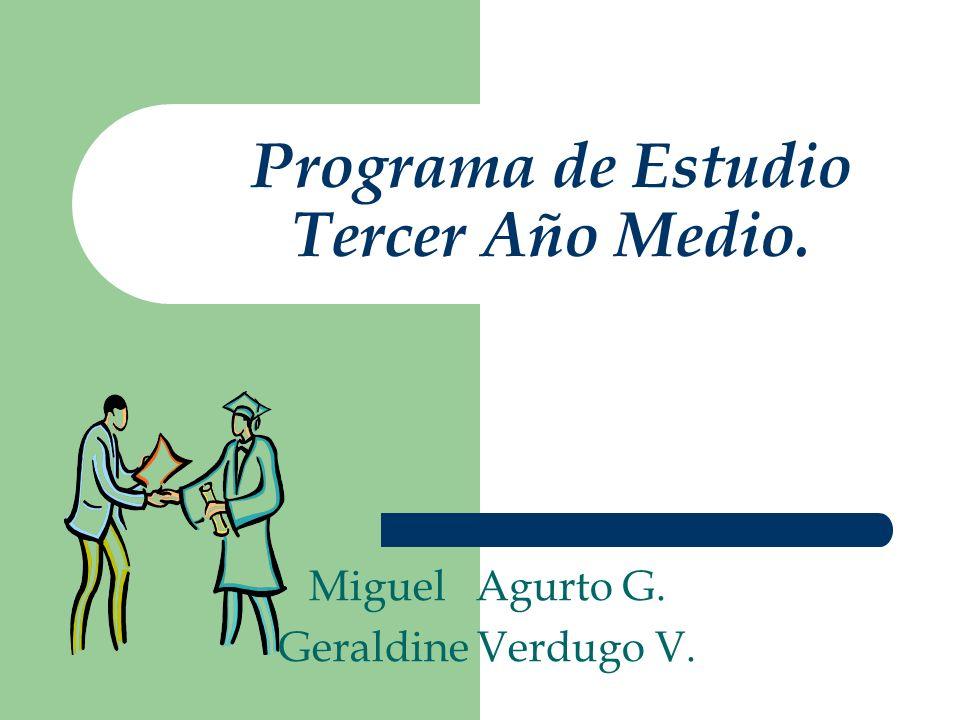 Programa de Estudio Tercer Año Medio.