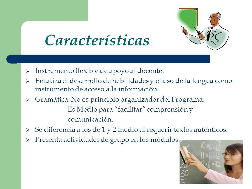 Instrumento flexible de apoyo al docente.