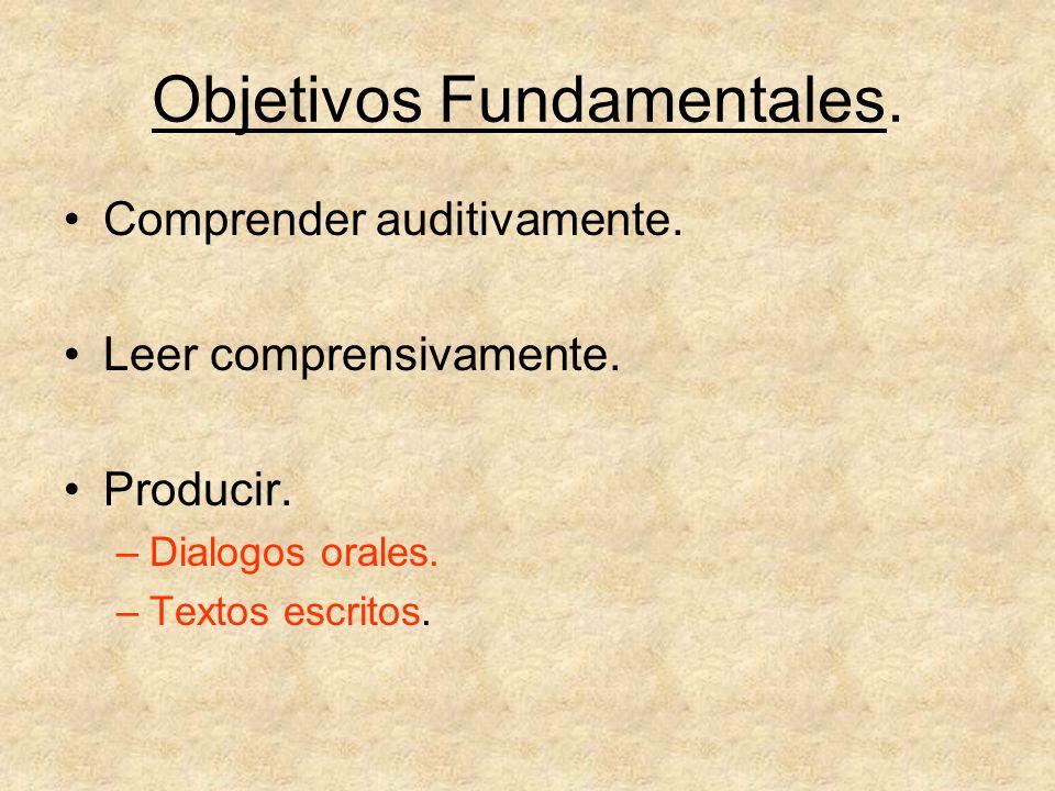 Objetivos Fundamentales.