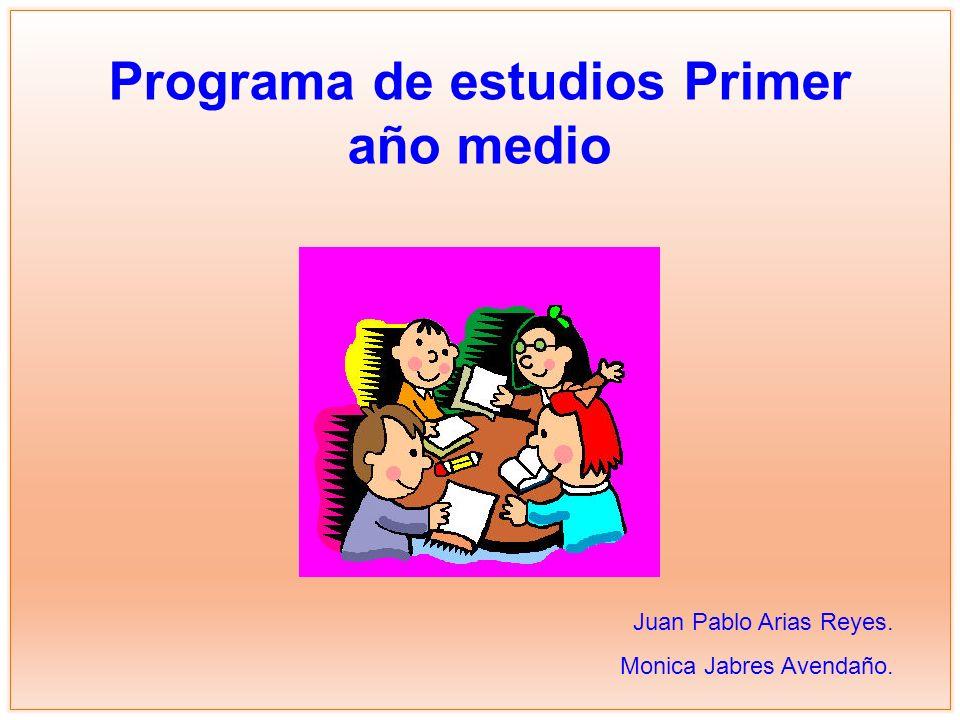 Programa de estudios Primer año medio