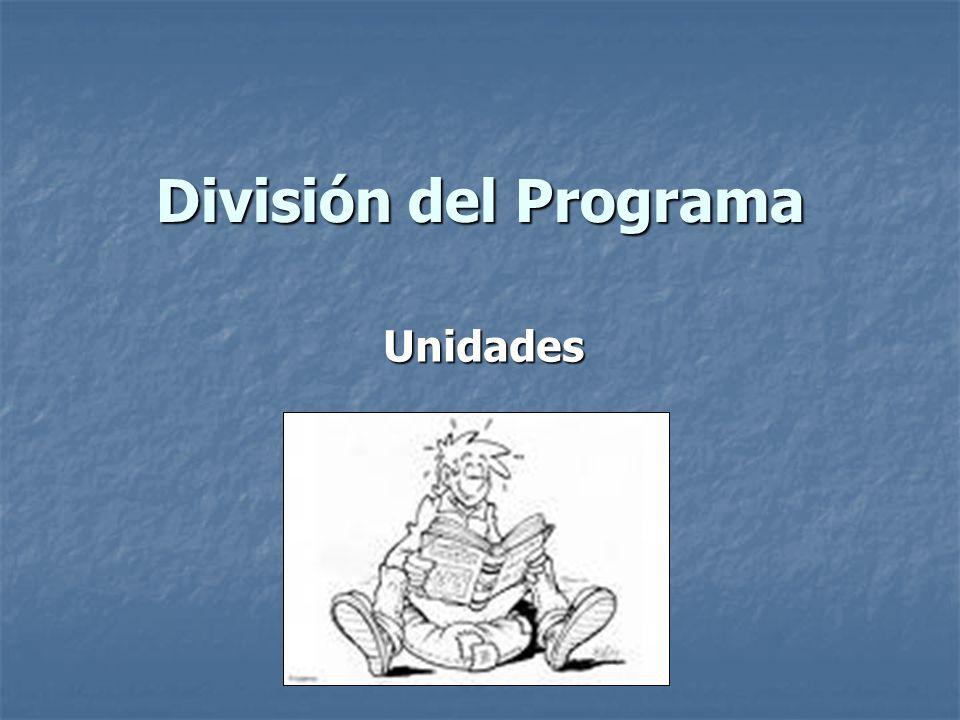 División del Programa Unidades