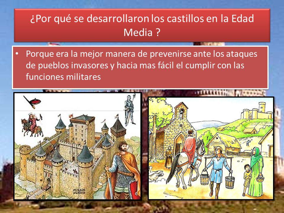 ¿Por qué se desarrollaron los castillos en la Edad Media