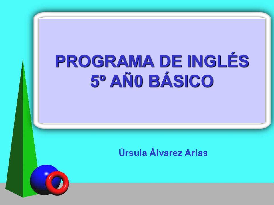 PROGRAMA DE INGLÉS 5º AÑ0 BÁSICO