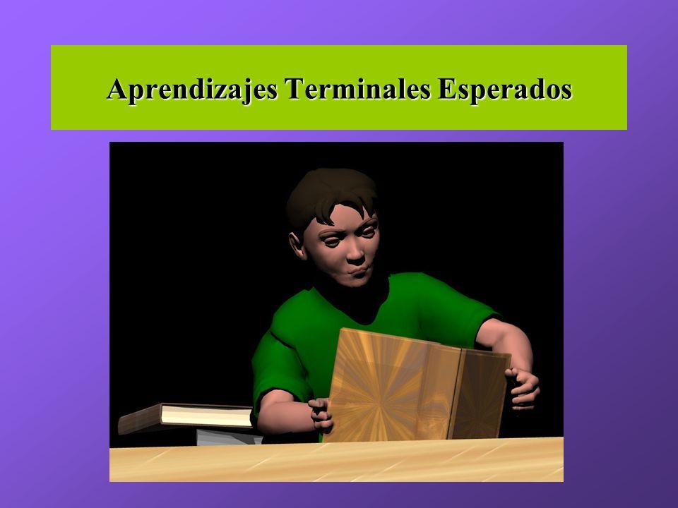 Aprendizajes Terminales Esperados