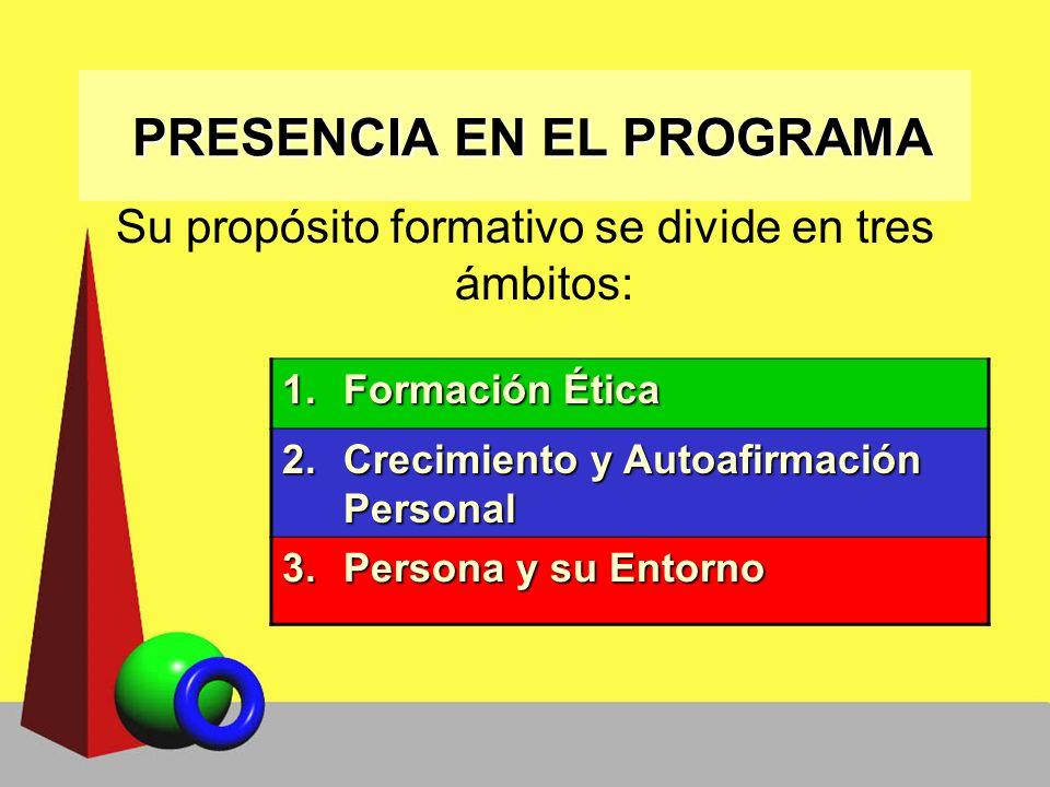 PRESENCIA EN EL PROGRAMA